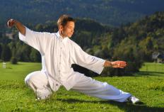Some exercises that can be done on a balance disc include tai chi.