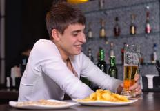 Bars and pubs typically stay open later than most businesses so people can eat and drink later in the day.