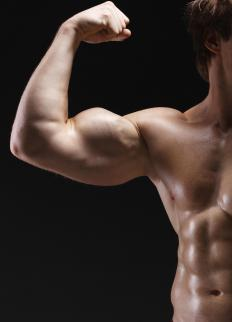 Bodybuilders may use steroid supplements.