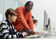 A technical support specialist may train fellow employees to use their computers more efficiently.
