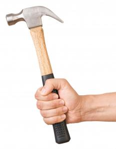 A hammer may be needed to install nails when building basement stairs.