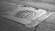 A manhole connects utilities to the surface.