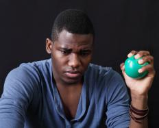 Stress balls are small hand exercise balls generally made from foam rubber.