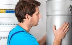Some central heating systems use boilers to heat water or air that is then used for warming a home or building.