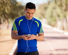 Disposable headphones might be used by joggers.