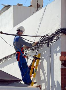 Harness systems are commonly used to arrest falls in electricians and construction workers.
