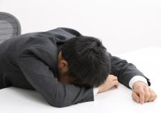 A person who is constantly falling asleep at work may need to make permanent changes in sleep patterns.