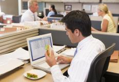 Cubicles are used in offices to divide rooms into individual spaces for each worker.