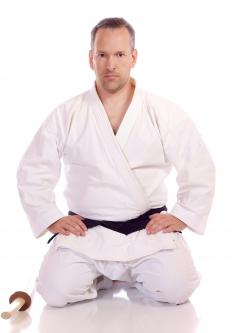Practitioners of judo wear a cotton uniform called a gi.