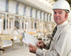A mechanical inspector supervises machine maintenance and conducts safety inspections.