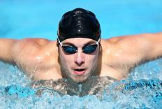 """Swim"" becomes a gerund in a sentence like, ""His favorite sport is swimming."""