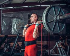 A weightlifting belt is often recommended for advanced lifters using heavy weights when squatting.