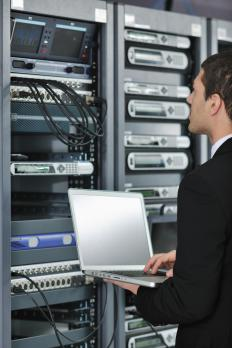 An IT professional maintains the computer network of a business.