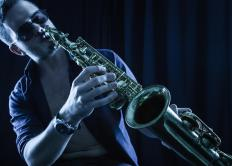 Jazz music may feature saxophone solos.