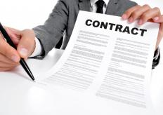 Companies that process a lot of contracts may have in-house contract negotiators.