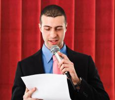 Taking public speaking courses can help you become a home shopping host.