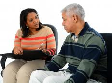Bipolar disorder therapy can include psychotherapy sessions.
