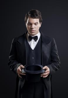 Top hats were once a required part of formalwear.