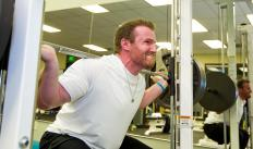 Squat racks commonly are used by powerlifters when handling heavy weights.