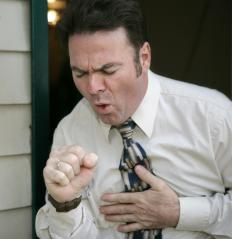 The stress of coughing can cause pain for an individual with a hernia.