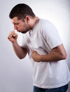 When cancerous growths spread to the lungs, patients often experience persistent coughing or cough up blood.