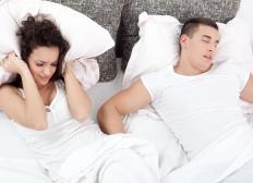 Snoring may be a sign of sleep apnea.