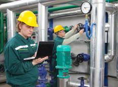 Pipeline operators are responsible for monitoring the instruments that regulate pumps.
