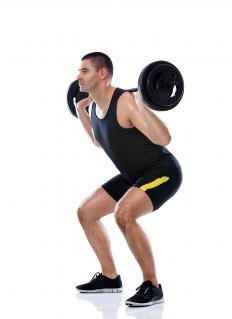 A deadlift helps increase back strength.