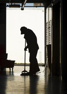 Schools typically employ a janitorial staff.