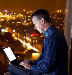 Laptops and free wi-fi have contributed to greater business mobility.