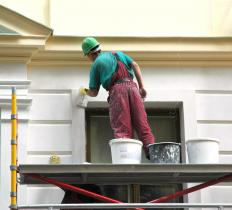 Painter's scaffolding allows painters to reach high places.