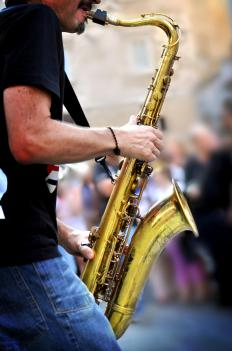 Saxophone mutes may be used to alter musical tones.