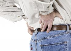 Injuries can cause back pain.