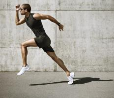 Sprinting shoes typically have spikes that grip the ground for better traction.