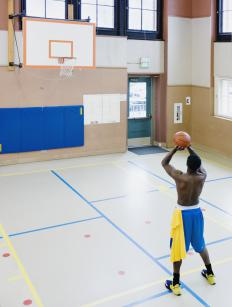 The free throw line is located 15 feet from the basket.