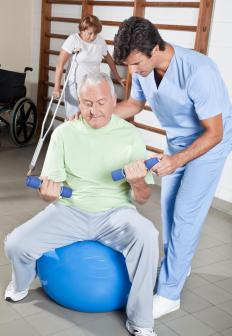 People suffering from a demyelinating disease may benefit from physical therapy.