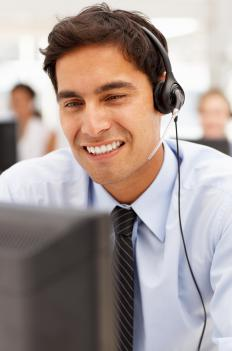 Managing performance at a call center might entail listening to a certain number of customer calls per week.