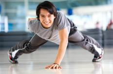 A one-handed pushup requires more strength and balance than a regular pushup.
