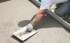 Wet concrete must have suitable stiffness for a construction job, and a slump test double-checks that stiffness prior to the concrete's use.