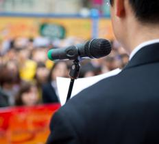 Toastmasters helps people develop public speaking skills.