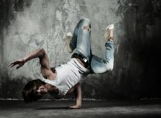 Break dancers often learn to balance on one hand.