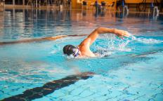Swimming is an aerobic exercise, but the right form takes time.