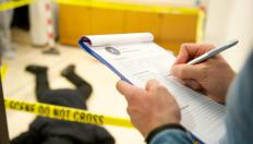 Criminal profiling looks for clues at crime scenes.