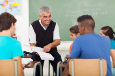 A psychology teacher could teach at the high school level.