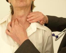 In Grave's disease, abnormally high levels of thyroid hormone causes symptoms including tiredness and sweating.