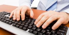 Typing on a keyboard can be hard on the wrists, possibly aggravating carpal tunnel problems.