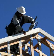 A nail gun may be used for roofing.