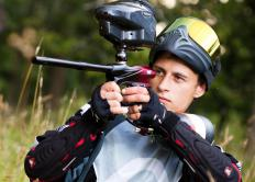 Silicone oil may be used as an internal lubricant for paintball guns.