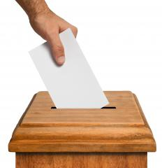 Voting by proxy is commonly used during a shareholders' meeting when someone cannot be present.
