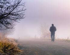 Care should be taken when driving or walking in foggy conditions.